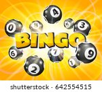 Bingo Lottery Balls Numbers On...