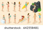 isometric cartoon people  3d... | Shutterstock .eps vector #642558481