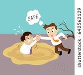 man giving a friendly helping... | Shutterstock .eps vector #642562129