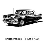 retro convertible   clipart... | Shutterstock .eps vector #64256710