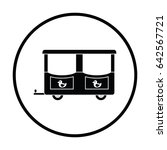 wagon of children train icon.... | Shutterstock .eps vector #642567721