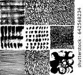 set of vector hand drawn... | Shutterstock .eps vector #642568234