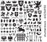 heraldic symbols and elements | Shutterstock .eps vector #64256950