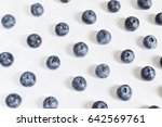 sweet blueberry on white... | Shutterstock . vector #642569761