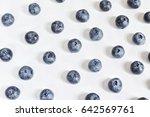 sweet blueberry on white... | Shutterstock . vector #642569761