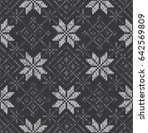 knitted wool sweater pattern... | Shutterstock .eps vector #642569809