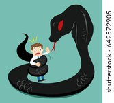 snake wrapped around... | Shutterstock .eps vector #642572905