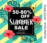 summer sale banner with... | Shutterstock .eps vector #642578431