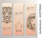 set of vertical banners with... | Shutterstock .eps vector #642578461