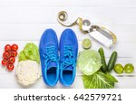 fitness  active lifestyles... | Shutterstock . vector #642579721