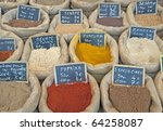 spices on a market in florence  ... | Shutterstock . vector #64258087