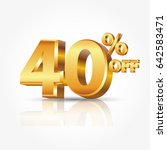 3d vector shiny gold text 40... | Shutterstock .eps vector #642583471