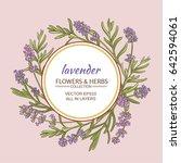 lavender vector  frame | Shutterstock .eps vector #642594061