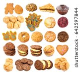 collection of cookies | Shutterstock . vector #642597844