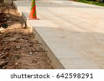 concrete construction    urban... | Shutterstock . vector #642598291