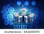 3d rendering database storage... | Shutterstock . vector #642600055