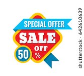 sale 50  off   vector concept... | Shutterstock .eps vector #642610639