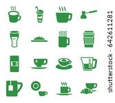 coffee icons set. set of 16... | Shutterstock .eps vector #642611281