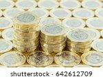 british money  new pound coins... | Shutterstock . vector #642612709