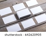 photo of business cards....   Shutterstock . vector #642620905