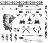 rustic indian elements | Shutterstock .eps vector #642634507