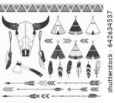 rustic tribal collection.  | Shutterstock .eps vector #642634537