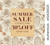 summer sale background with... | Shutterstock .eps vector #642636025
