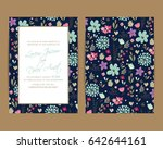 wedding invitation card or... | Shutterstock .eps vector #642644161