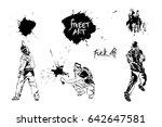 set graffiti art. artists ... | Shutterstock .eps vector #642647581