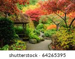 Autumnal Japanese Garden In...