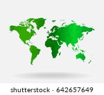 world map concept. polygonal... | Shutterstock .eps vector #642657649