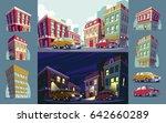set of cartoon illustrations of ...   Shutterstock . vector #642660289
