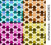 abstract colorful geometric... | Shutterstock .eps vector #642661801