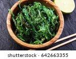 hiyashi wakame chuka or seaweed ... | Shutterstock . vector #642663355