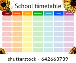 school timetable  a weekly... | Shutterstock .eps vector #642663739