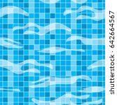 mosaic tiles under water in the ... | Shutterstock .eps vector #642664567