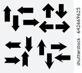 vector set of different black... | Shutterstock .eps vector #642669625