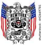 american eagle linework vector... | Shutterstock .eps vector #642669781