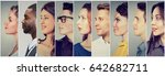 profiles of multicultural... | Shutterstock . vector #642682711