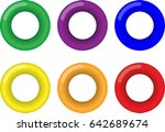 torus shapes in 6 colors | Shutterstock .eps vector #642689674