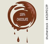 stain from melted chocolate.... | Shutterstock .eps vector #642690139