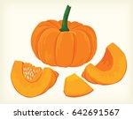 pumpkins vector | Shutterstock .eps vector #642691567