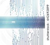 vector circuit board... | Shutterstock .eps vector #642692899