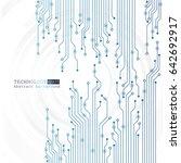 vector circuit board...   Shutterstock .eps vector #642692917