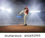 baseball players in action on... | Shutterstock . vector #642692995