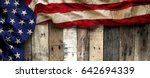 vintage red  white  and blue...   Shutterstock . vector #642694339