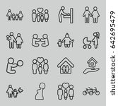 mother icons set. set of 16... | Shutterstock .eps vector #642695479