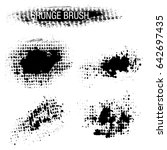 vector set of grunge brush... | Shutterstock .eps vector #642697435