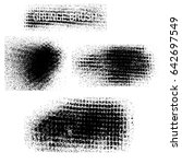 vector set of grunge brush... | Shutterstock .eps vector #642697549