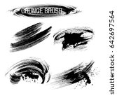 vector set of grunge brush... | Shutterstock .eps vector #642697564